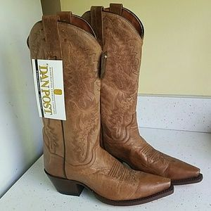 DAN POST Brown Leather Cowboy Boots 6 NWT